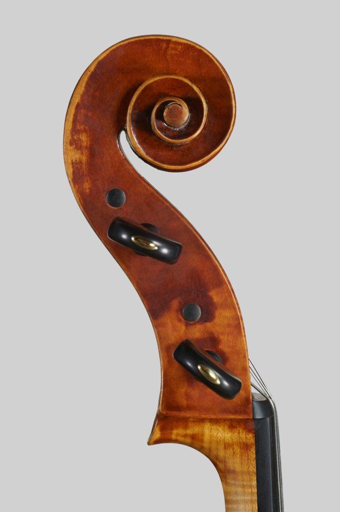 Scroll Guadagnini cello